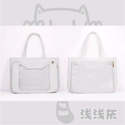 Grey Neko Ita Bag